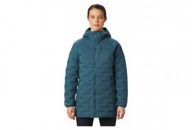 Mountain Hardwear Down Jacket Women Hoodie Super DS Stretchdown Blue