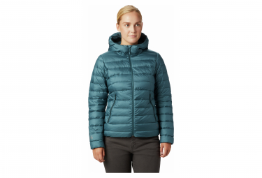 Mountain Hardwear Down Jacket Hoodie Rhea Ridge Blue Women