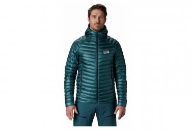 Mountain Hardwear Down Hoodie Jacket Phantom Blue Green Men