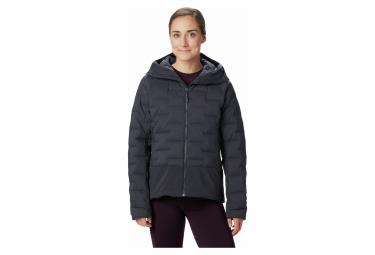 Mountain Hardwear Down Jacket Hoodie Super Ds Climb Grey Women S
