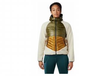 Mountain Hardwear Down Jacket Hybride Altius Hybrid Green White Women