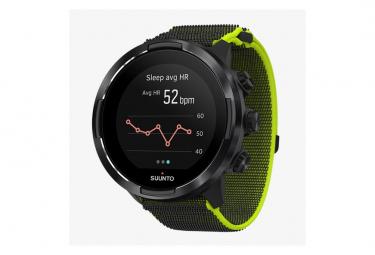 Correa de velcro para reloj Suunto 9 Baro Black / Lime GPS