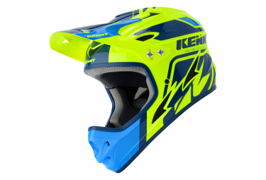 Helmet Int gral Kenny Down Hill Graphic Blue / Fluo Yellow