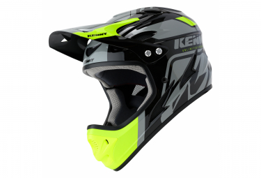 Integralhelm Kenny Down Hill Graphic Schwarz / Fluo Yellow