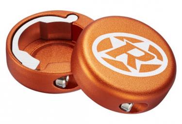 Bouchons Lock-On Reverse Aluminium Orange