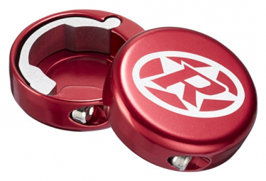 Bouchons Lock-On Reverse Aluminium Rouge