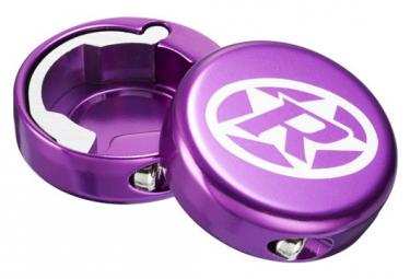 Lock-On Reverse Aluminum Purple Caps