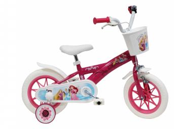 Vélo  12  Licence  Princesse  pour enfant de 3 à 5 ans avec stabilisateurs à molettes