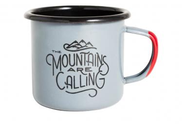 United by Blue Mountains Are Calling Enamel Steel Mug 350 ml (12 oz.) Grey