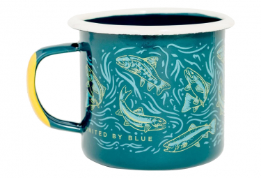 United by Blue Upstream Enamel Steel Mug 350 ml (12 oz.) Teal Blue