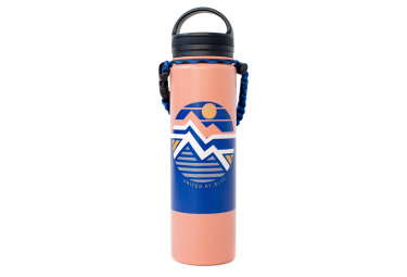 United by Blue Geo Mountain 650 ml (22 oz.) Insulated Bottle Pink Blue