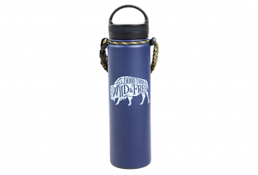 United by Blue Wild & Free 650 ml (22 oz.) Insulated Bottle Blue