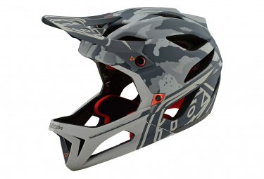 Troy Lee Designs Stage Tactical Integralhelm Matt Sand Grau