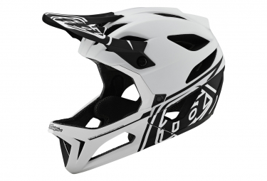 Casco integrale Troy Lee Designs Stage Stealth bianco opaco nero
