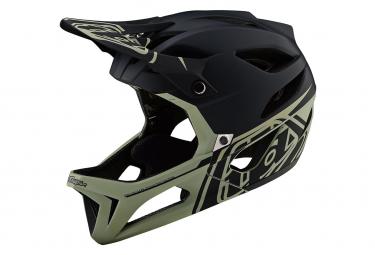 Troy Lee Designs Stage Stealth Full Face Helmet Matte Black Stone Gray