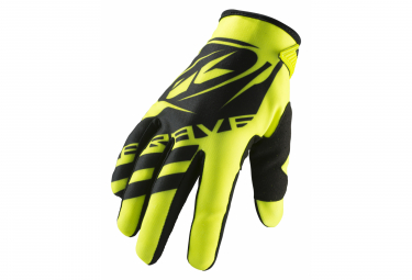 Pair of Kids Gloves Kenny Brave Yellow
