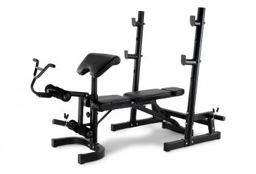 Banc olympique de musculation EVO D4500 YD4500. Structure en acier. Avec support pour haltères.
