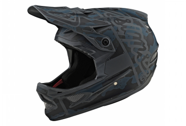 Troy Lee Designs D3 Fiberlite Factory Integralhelm Matt Camo Grau