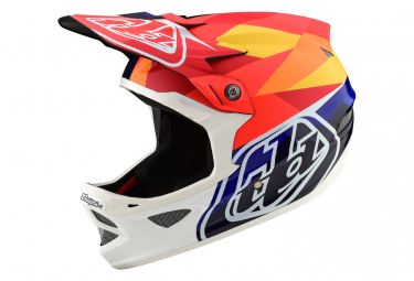 Troy Lee Designs D3 Carbon Jet Mips Integralhelm Matte Orange Glossy Navy