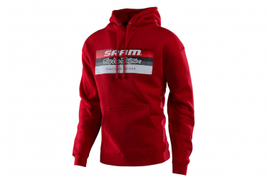Troy Lee entwirft den Sram Racing Block Hoodie Sweat Red