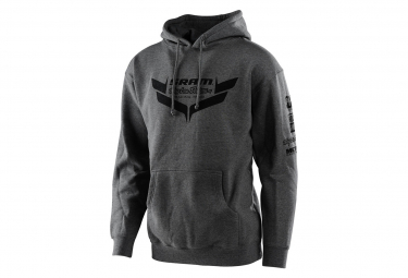 Troy Lee entwirft Sram Racing Icon Hoodie Sweat Charcoal Grey