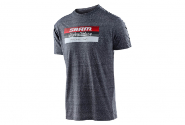 Troy Lee entwirft Sram-Rennblock-T-Shirt Vintage Grey Snow