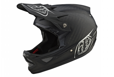 Casco integrale Troy Lee Designs D3 Midnight Mips Carbon Nero opaco