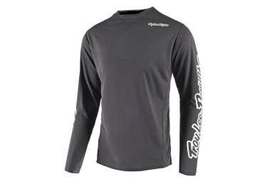 Troy Lee Designs Sprint Solid Langarmtrikot Anthrazit