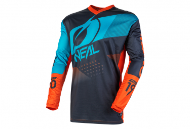 O'Neal Element Factor Long Sleeve Jersey Gray / Orange / Blue
