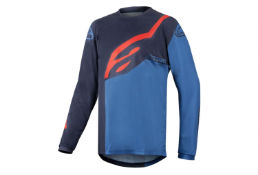 Alpinestars Racer Factory Long Sleeve Kids Jersey Blue