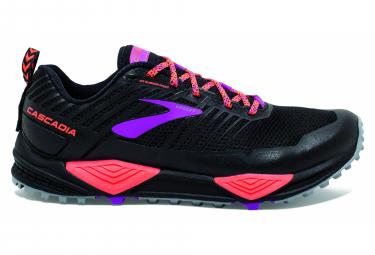 Chaussures de Trail Femme Brooks Running Cascadia 13 Noir / Rouge / Violet