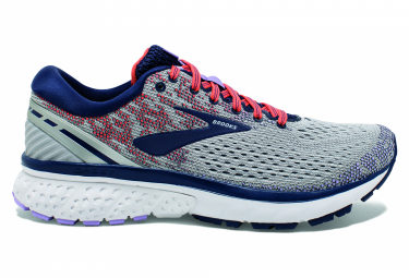 Brooks Ghost 11 Gray Blue Coral Woman