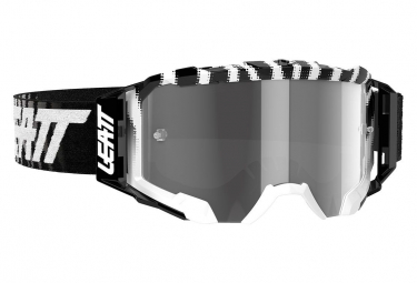 Leatt Velocity 5 5 Mask Negro   Blanco Zebra   Pantalla Gris Claro 58