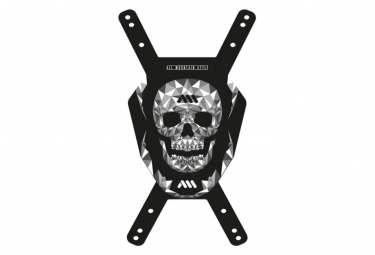 ALL MOUNTAIN STYLE Number Plate skull Black