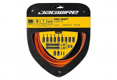 Jagwire 2x Pro Shift Kit Naranja