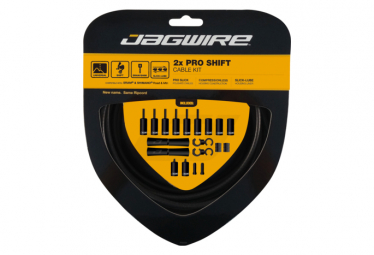 Jagwire 2x Pro Shift Kit Stealth Negro