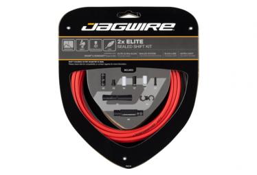Kit de cambio sellado Jagwire 2x Elite rojo