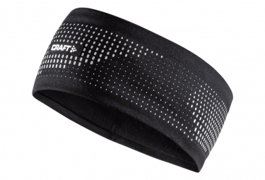 CRAFT Brilliant 2.0 Reflective Black Running Headband