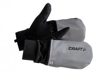 CRAFT Hybrid Weather Warm Silver Running Gloves