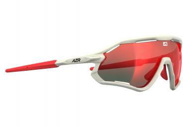 AZR ATTACK RX Sports Glasses White - Red MULTILAYER