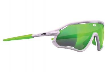 Sports glasses AZR ATTACK RX WHITE - GREEN MULTILAYER