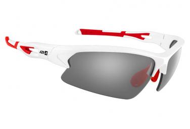 Gafas deportivas azr huez blanco rojo   gris espejo