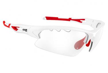 AZR KROMIC HUEZ Sports Glasses White Red - Transparent PHOTOCHROMIC