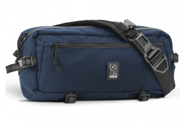 Blue Kadet Chrome Shoulder Bag