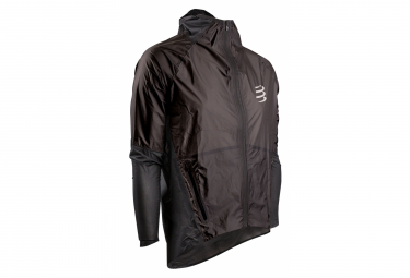 Compressport Hurricane Waterproof 25/75 Waterproof Jacket Black