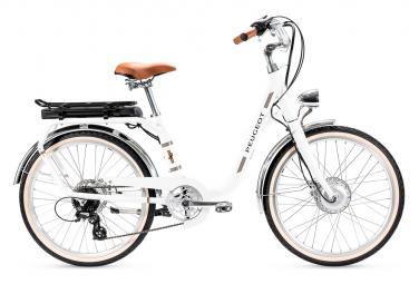 Bicicleta Ciudad Mujer Peugeot eLC01 Blanc