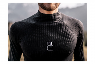 Maillot Manches Longues Thermique Compressport 3D Thermo 110g Noir