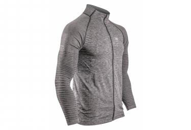 Compressport Seamless Zip Jacket Grey Men