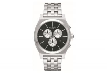Montre Nixon Time Teller Chrono Noir / Bracelet Argent