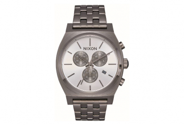 Nixon Time Teller Chrono GunMetal / Silver Watch